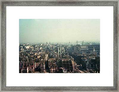Bomb Site Framed Print by Frank J. Galloon