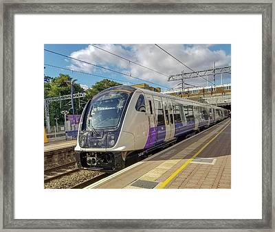 Bombardier Class 345 Aventra Commuter Train At Ealing Broadway Station London England Framed Print