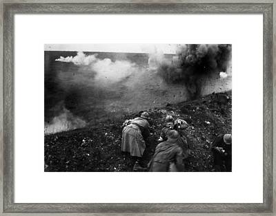 Bombardment Framed Print by General Photographic Agency