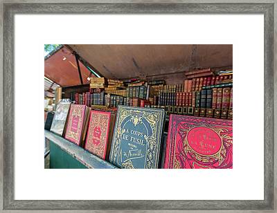 Framed Print featuring the photograph Books Along The Seine by Melanie Alexandra Price