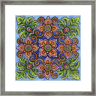 Botanical Mandala 1 Framed Print
