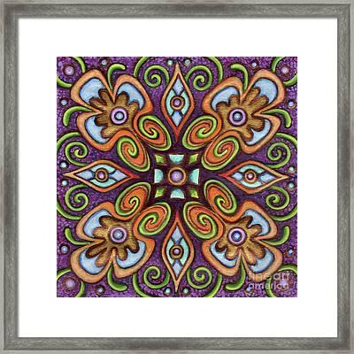 Botanical Mandala 11 Framed Print