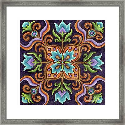 Botanical Mandala 12 Framed Print