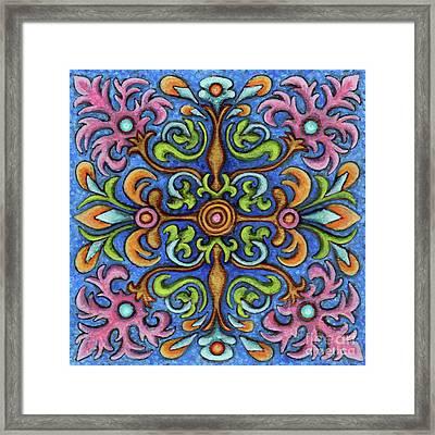 Botanical Mandala 2 Framed Print