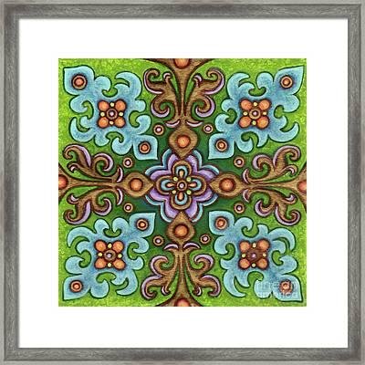 Botanical Mandala 4 Framed Print