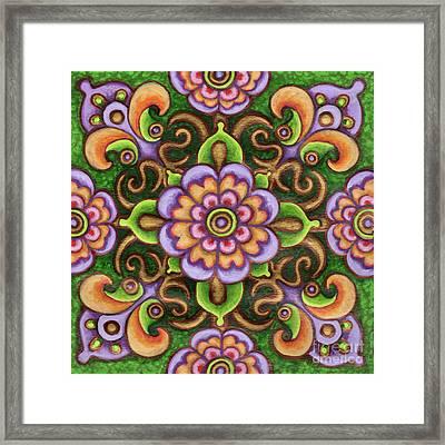 Botanical Mandala 5 Framed Print