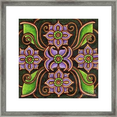 Botanical Mandala 6 Framed Print