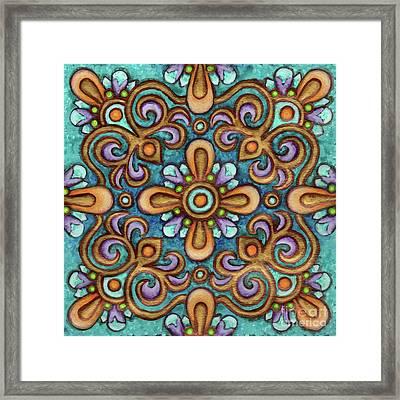 Botanical Mandala 7 Framed Print