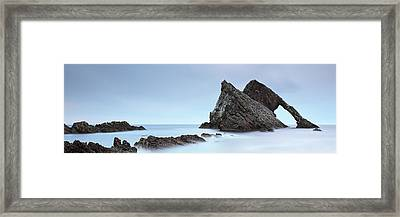 Framed Print featuring the photograph Bow Fiddle Rock In The Twilight by Grant Glendinning