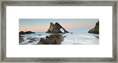 Framed Print featuring the photograph Bow Fiddle Rock Sunset - Port Knockie by Grant Glendinning
