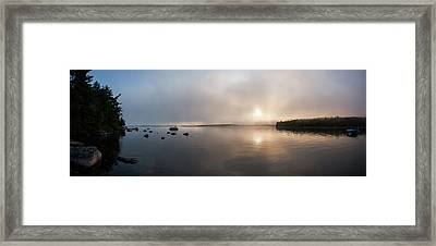 Framed Print featuring the photograph Branch Lake - Ellsworth Maine by Kirkodd Photography Of New England