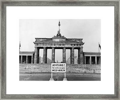 Brandenburg Gate Framed Print by John Waterman