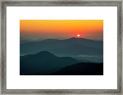 Framed Print featuring the photograph Brasstown Bald Sunrise by Andy Crawford