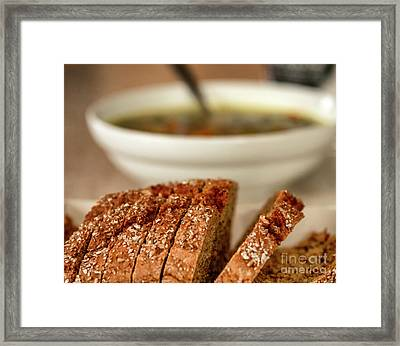 Bread And Soup Framed Print