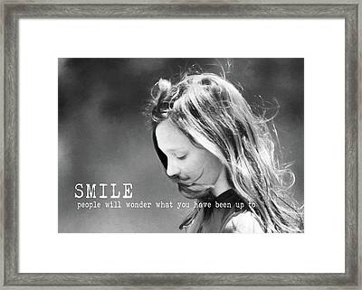 Breeze Quote Framed Print by JAMART Photography