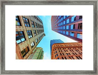 Brick And Mortar Skyward Framed Print