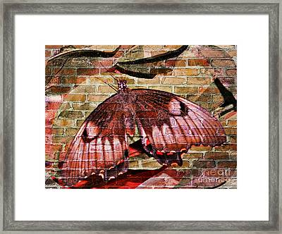 Framed Print featuring the mixed media Brick In The Wall by Sabine ShintaraRose