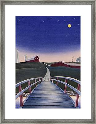 Bridge Over Buck Creek II Framed Print