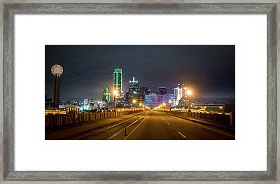 Framed Print featuring the photograph Bridge To Dallas by David Morefield