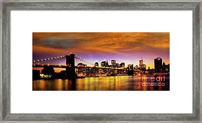 Bridging The East River Framed Print