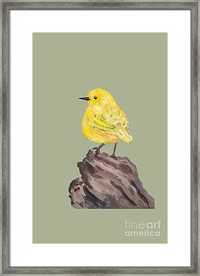 Framed Print featuring the painting Bright Spot #2 by Maria Langgle