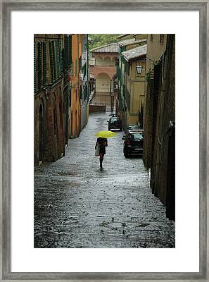 Bright Spot In The Rain Framed Print