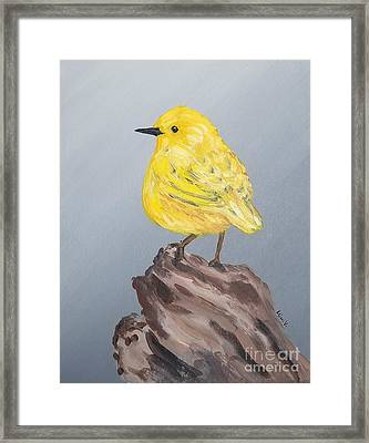 Framed Print featuring the painting Bright Spot by Maria Langgle