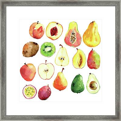 Bright Vector Watercolor Hand Drawn Framed Print by Dinkoobraz