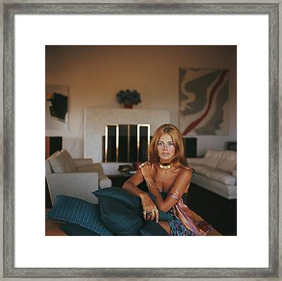 Britt Ekland Framed Print