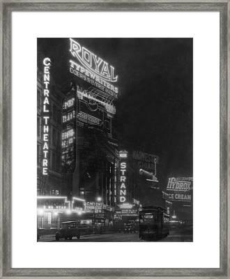 Broadway Framed Print by Edwin Levick