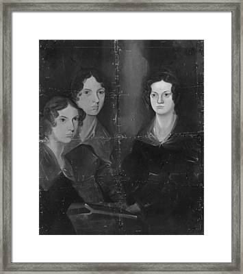 Bronte Sisters Framed Print by Rischgitz