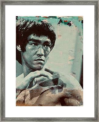 Bruce Lee Framed Print