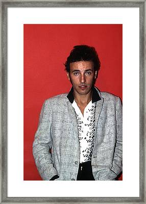 Bruce Springsteen In Detroit Framed Print by Donaldson Collection