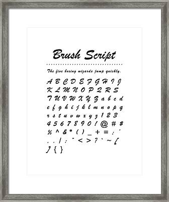 Brush Script - Most Wanted Framed Print