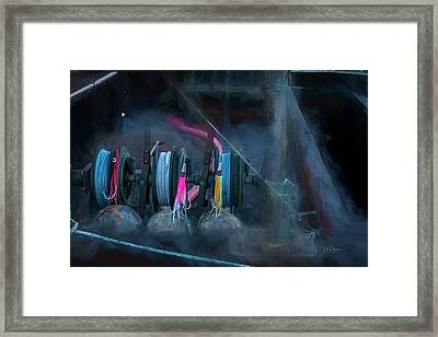 Framed Print featuring the photograph Brushed Lines by Bill Posner