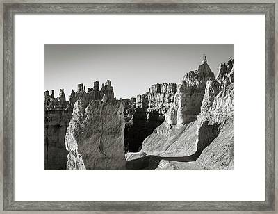 Framed Print featuring the photograph Bryce Canyon Np Ix Bw by David Gordon