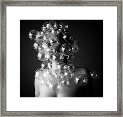 Bubble Face Framed Print