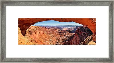 Framed Print featuring the photograph Buck Canyon Through Mesa Arch by Andy Crawford