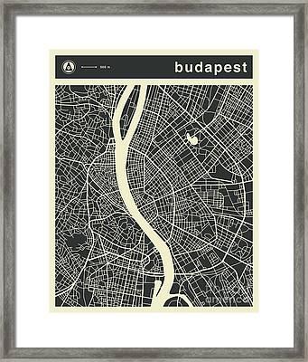 Budapest Map 3 Framed Print