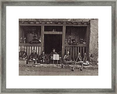 Buddhist Music Framed Print by Henry Guttmann Collection