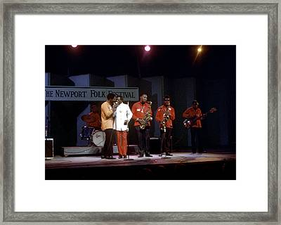 Buddy Guy And Junior Wells At Newport Framed Print by Michael Ochs Archives