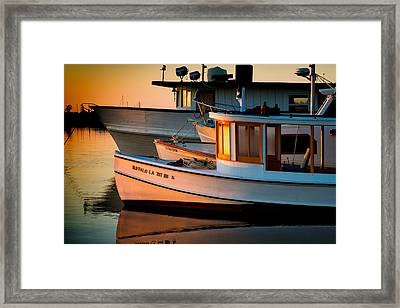 Buffalo Boat Framed Print