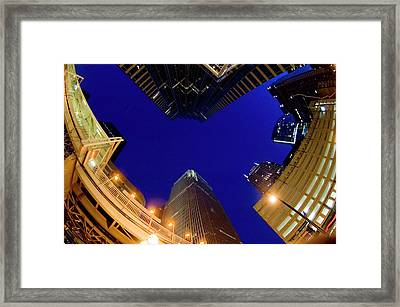 Buildings, Low Angle View Framed Print