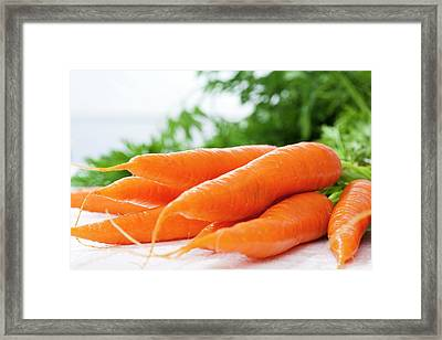 Bunch Of Fresh Carrots, Close Up Framed Print by Westend61