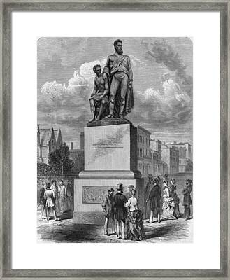Burke And Wills Statue Framed Print by Hulton Archive