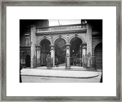 Burlington Arcade Framed Print by Topical Press Agency