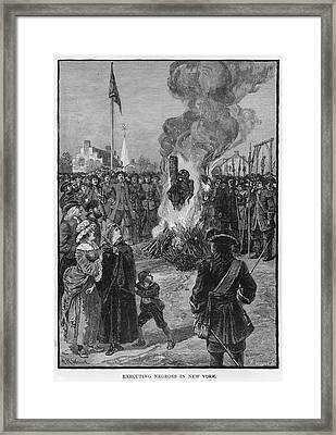 Burning Slaves At The Stake Framed Print by Kean Collection