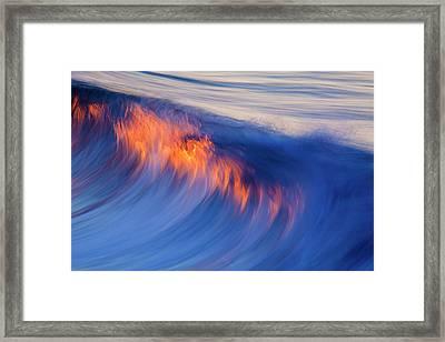 Burning Wave Framed Print
