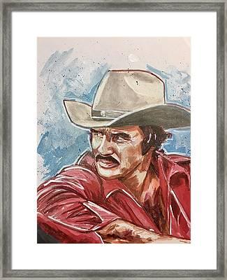 Burt Reynolds Framed Print