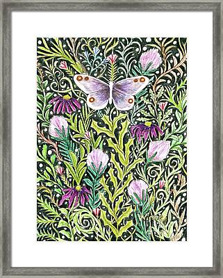 Butterfly Tapestry Design Framed Print